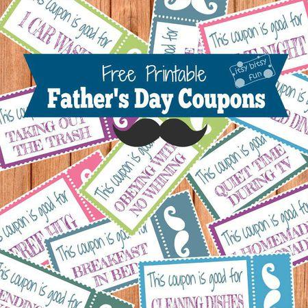 13 Free, Printable Father\'s Day Coupon Books