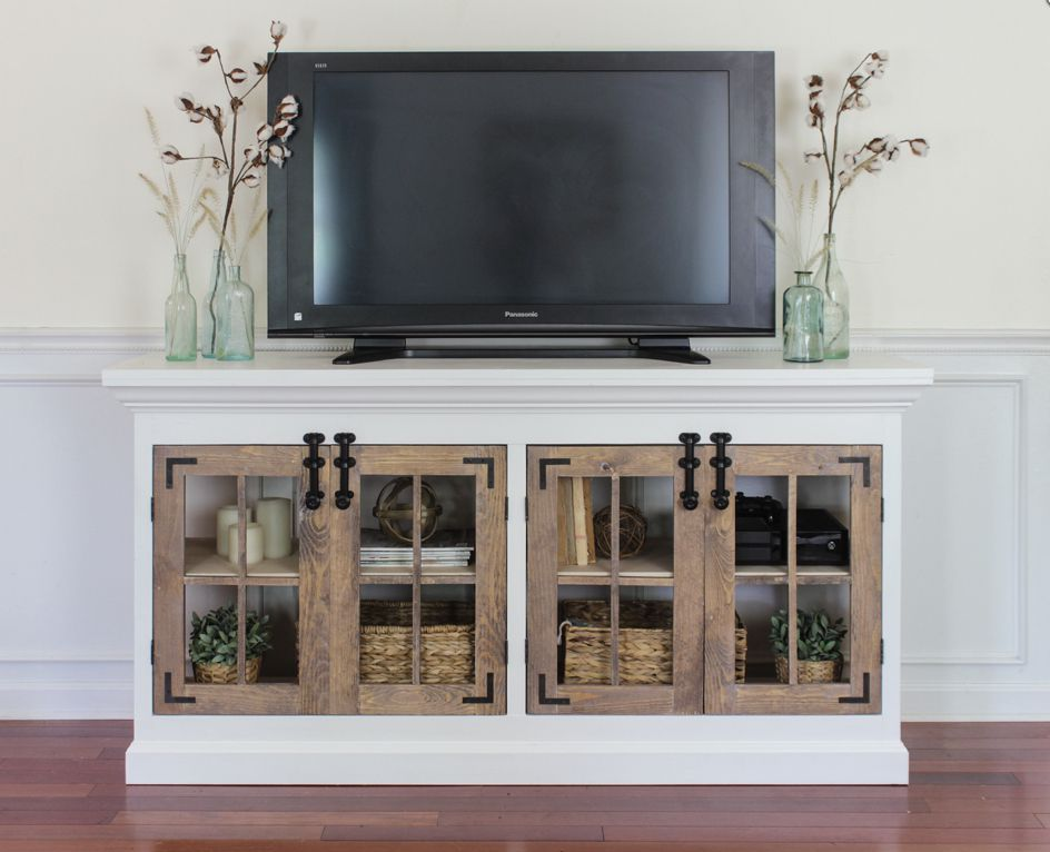 A Farmhouse Style Media Console