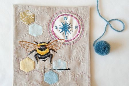 5 Bee And Honeycomb Themed Hand Embroidery Patterns