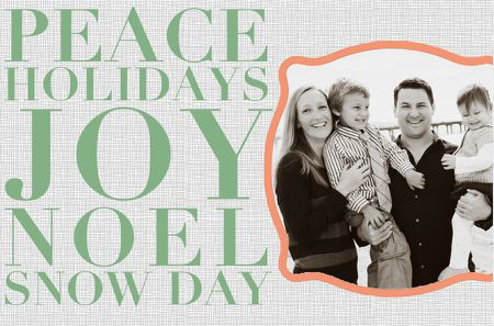 a christmas card template that says peace holidays joy noel snow - Free Christmas Card Templates