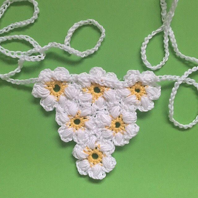 Daisy Crochet Necklace
