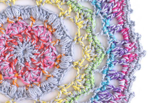 Marled Rainbow Mandala Crochet Pattern