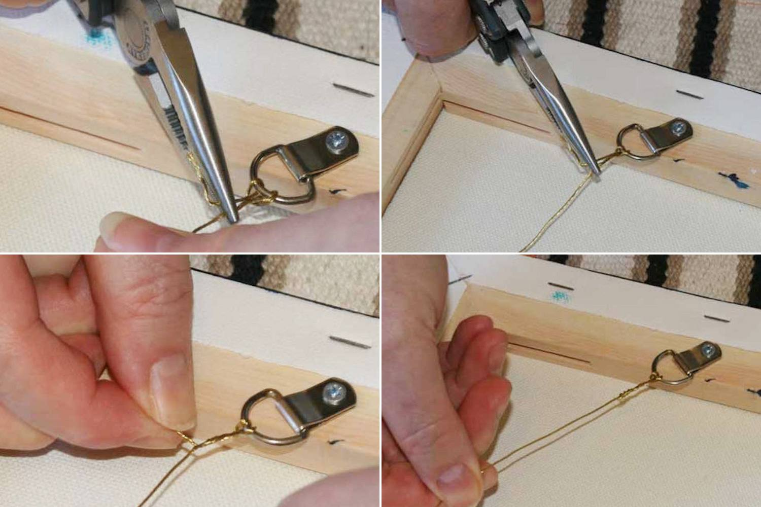 How to Hang a Painting With Frame Hanging Wire
