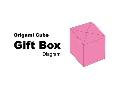 Origami Cube Gift Box Instructions