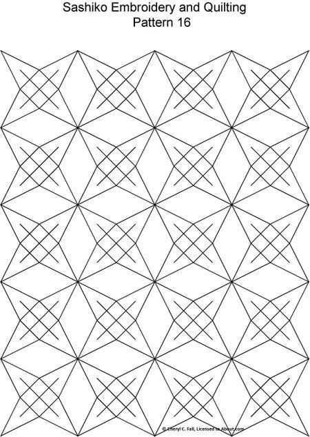 Free Sashiko Embroidery Patterns New Sashiko Patterns
