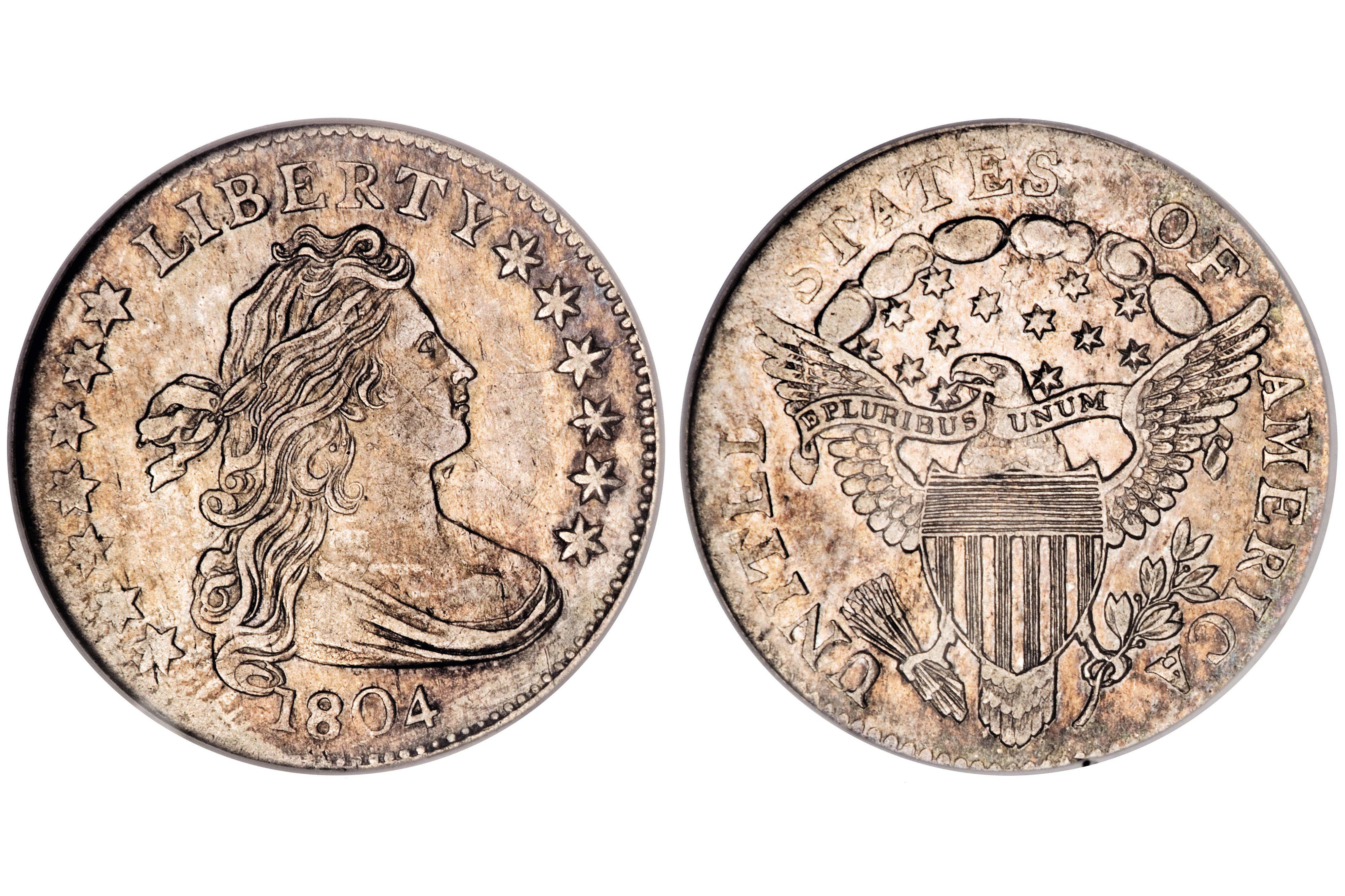 1804 Draped Bust Dime - 14 Stars Reverse