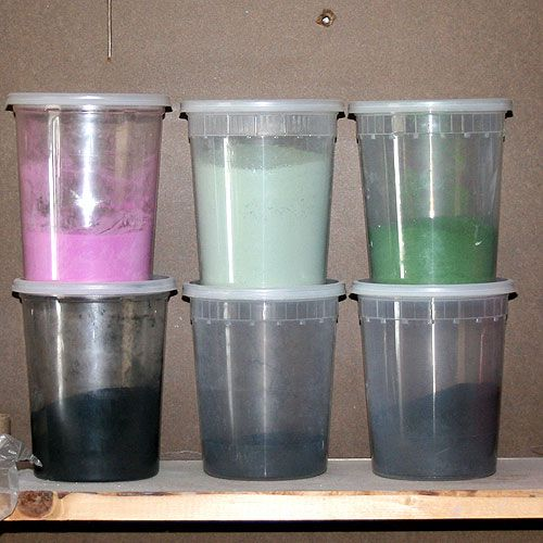 These are some raw glaze colorants.