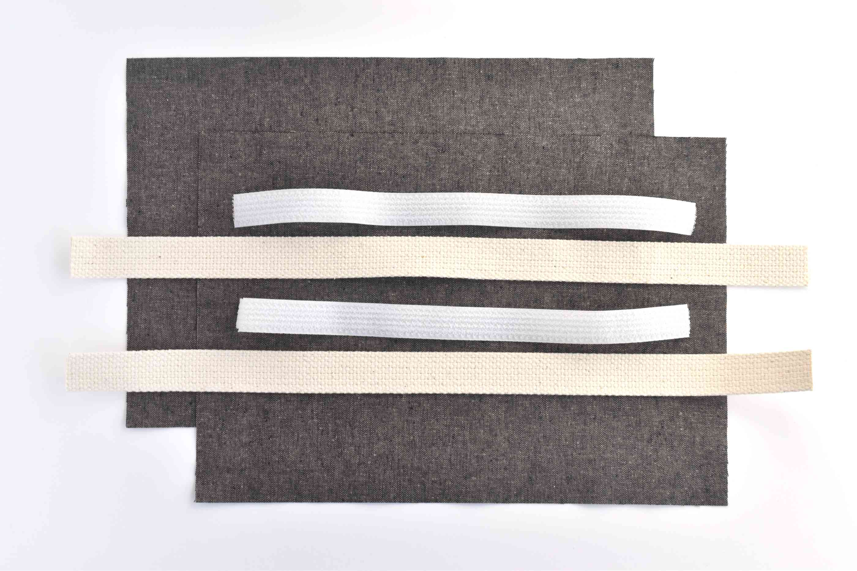 Measure and Cut the Fabric, Straps, and Velcro