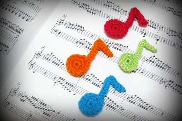 Crochet Music Note Free Pattern