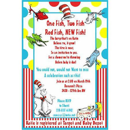 How To Plan A Dr Seuss Baby Shower