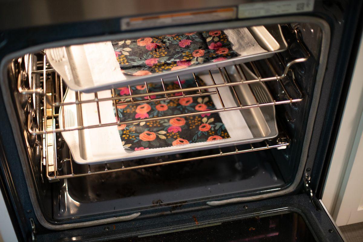 Baking reusable food wraps