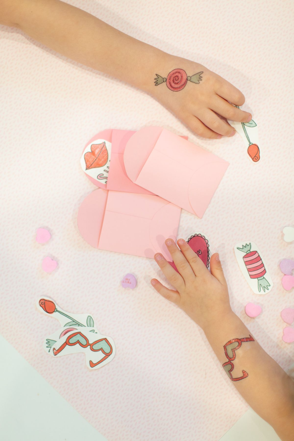 Free printable Valentine's Day tattoos for kids or grownups