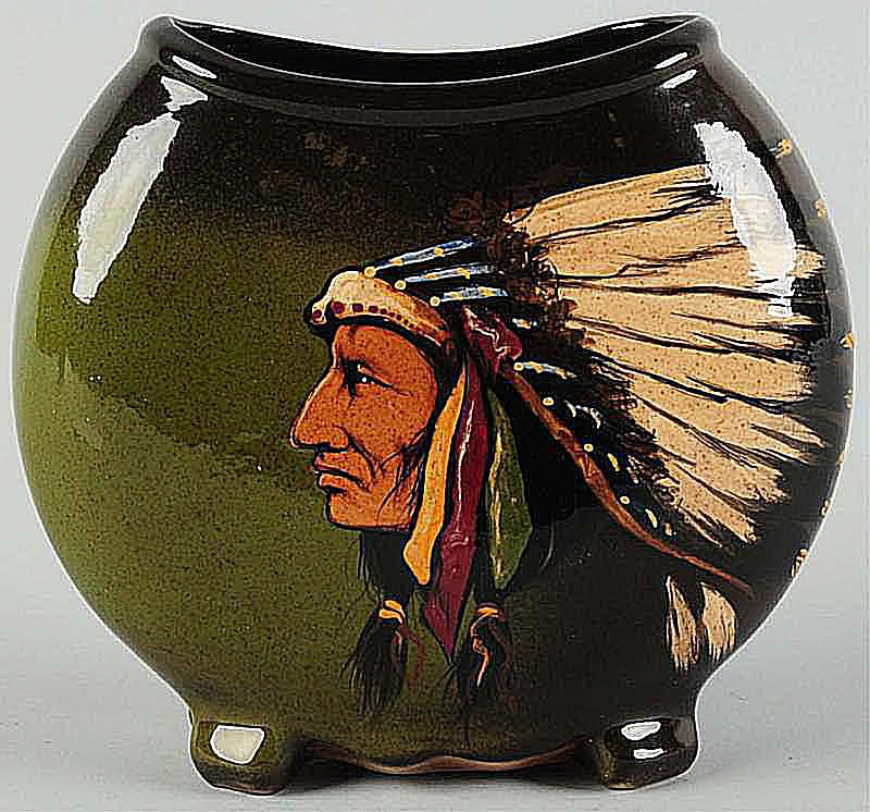 Weller Louwelsa American Indian Chief Pillow Vase
