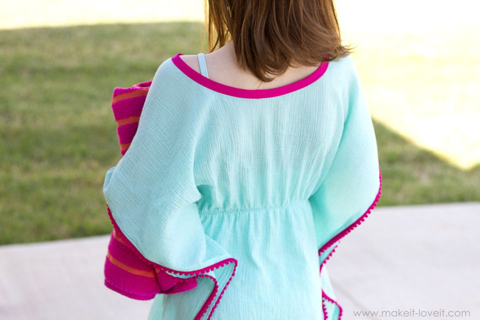 DIY PomPom-Trimmed Swim Cover Up