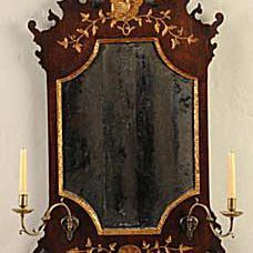 Ca. 1740-1760 English Mirror with Candlearms