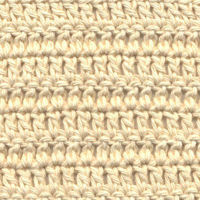 Close-Up Photo of Double Crochet Stitches