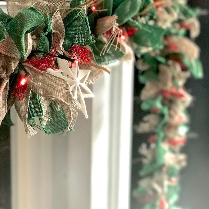 Easy Do-It Yourself Burlap Christmas Garland For the Holiday Season