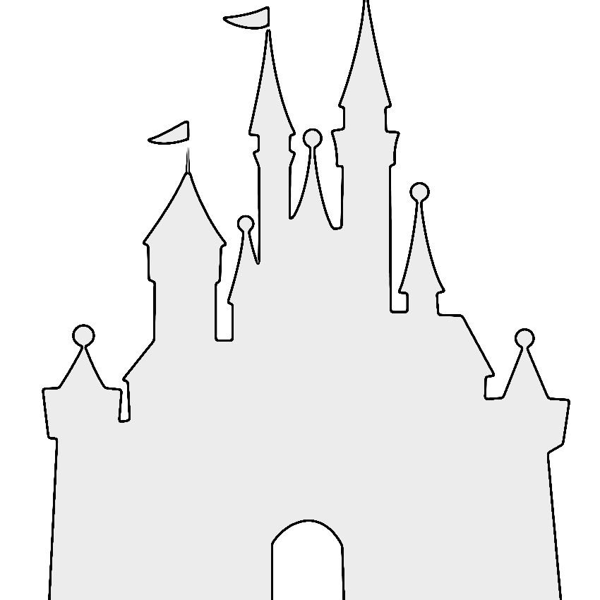 A stencil of the Disney castle