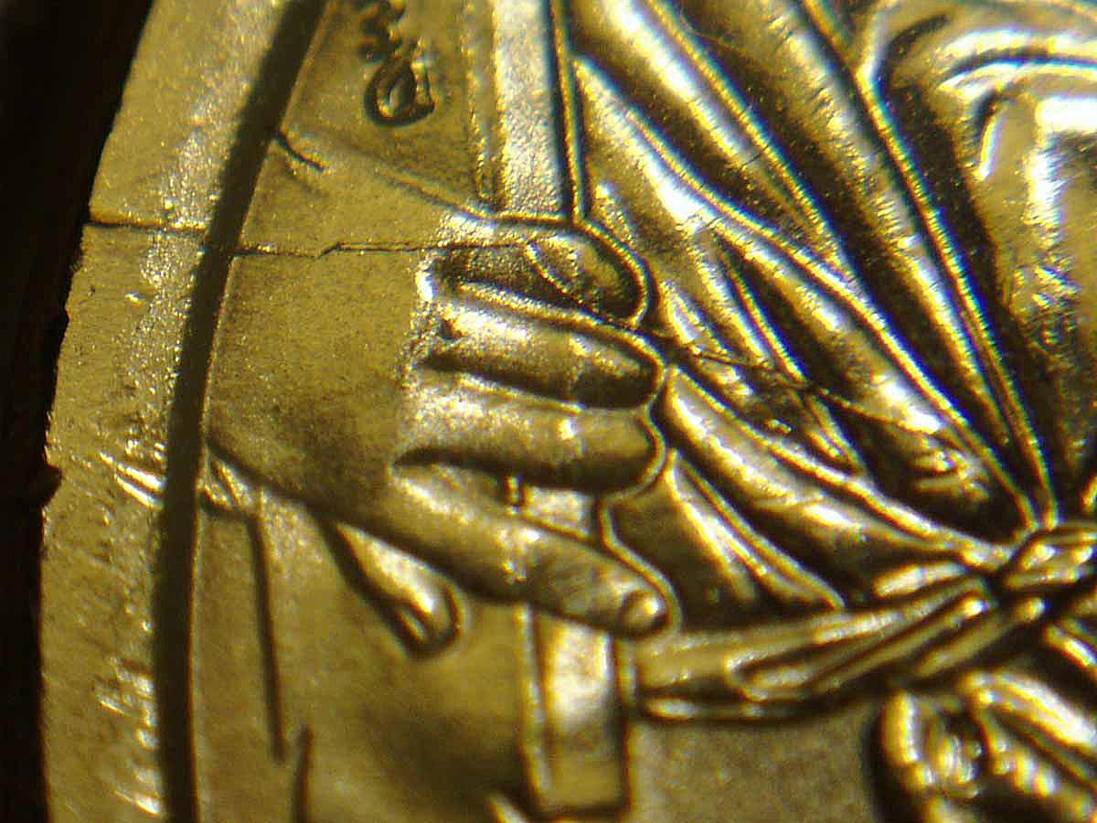 Washington Dollar Die Crack