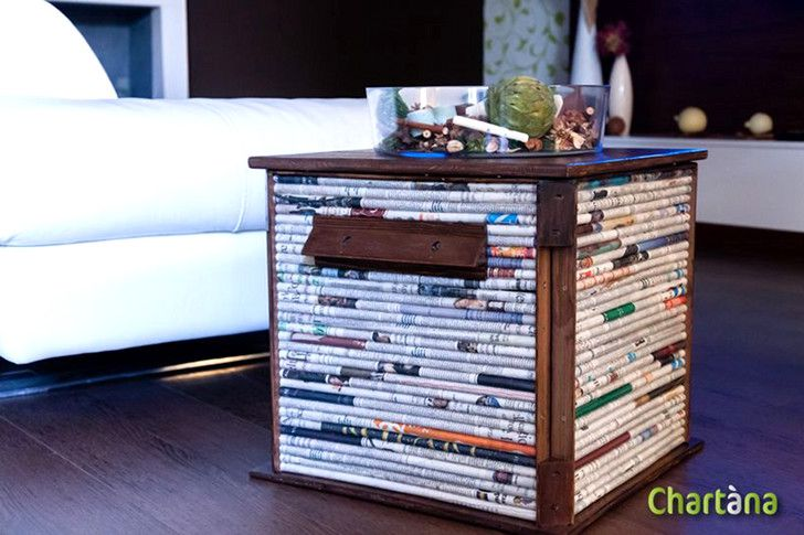 recycled Cubox table