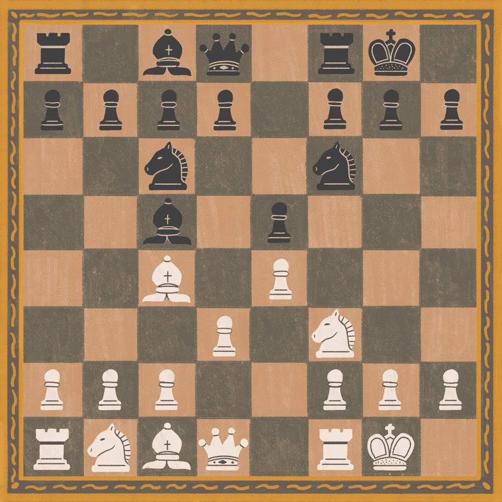 Illustration of castling in chess