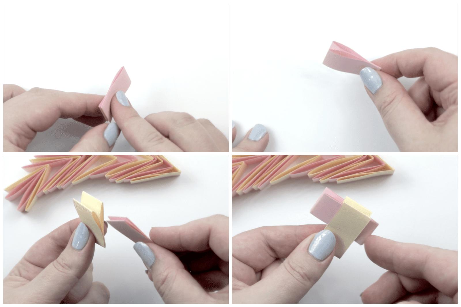 origami bracelet tutorial 02
