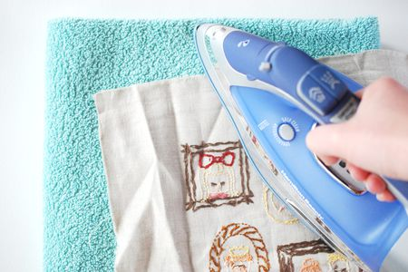 How To Iron Finished Hand Embroidery