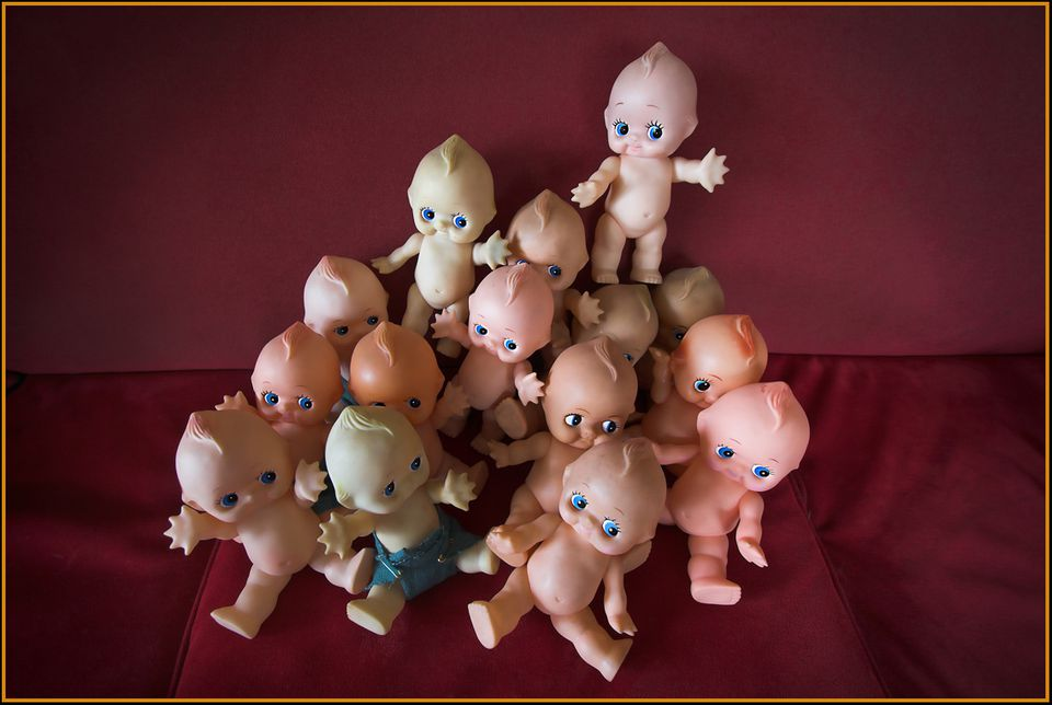 kewpie dolls grouped together