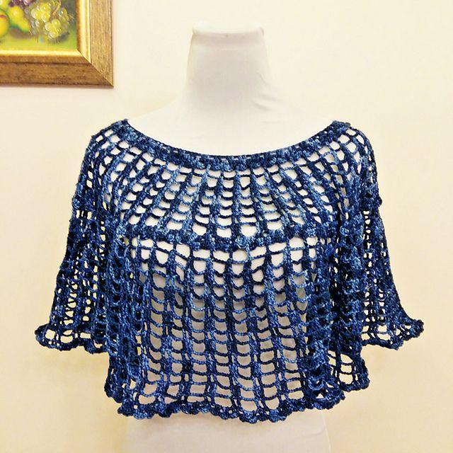 Lace crochet poncho