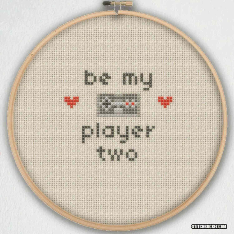 player 2 cross stitch