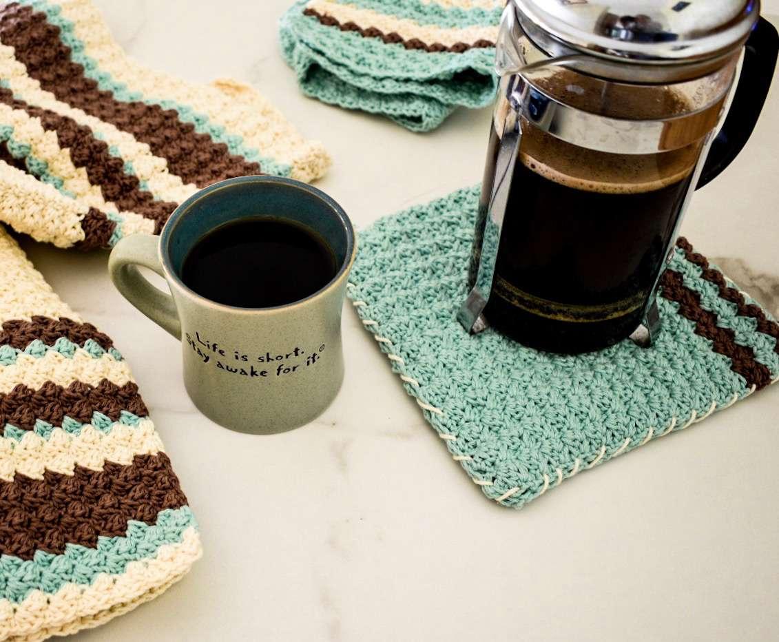 Earl Grey Pot Holder Crochet Pattern