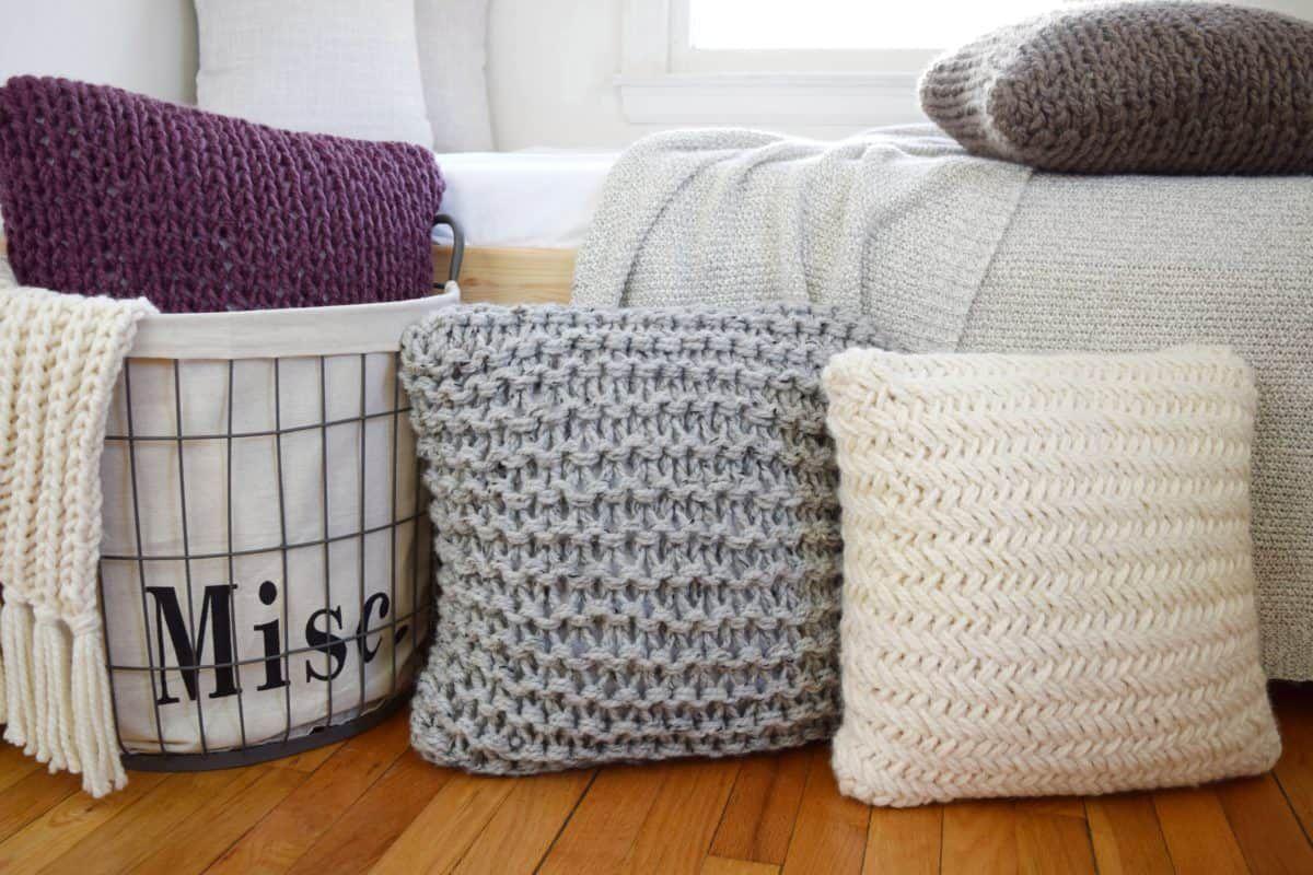 Chunky Throw Pillow Knitting Patterns