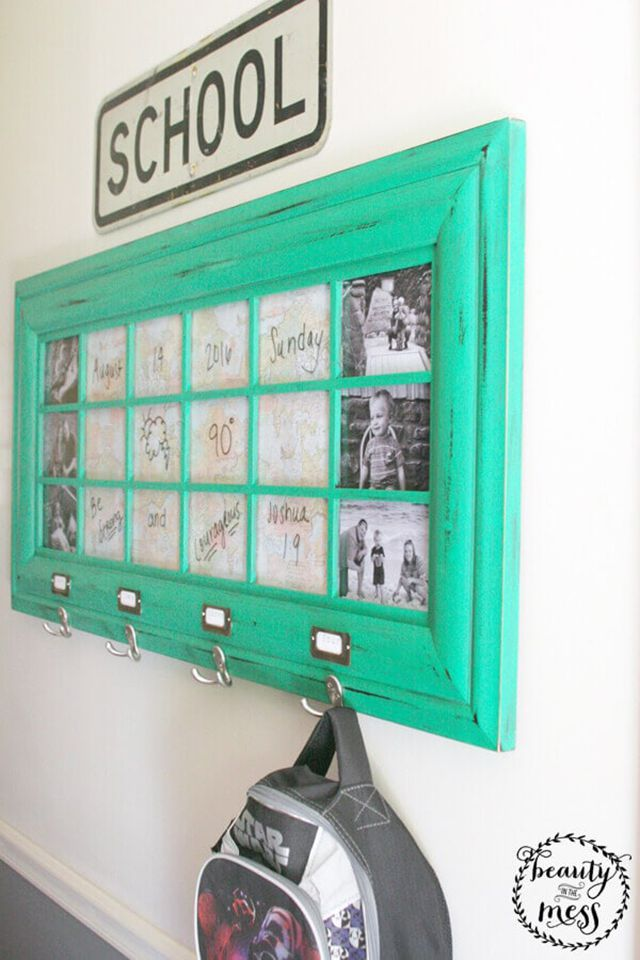 DIY picture frame crafts for school items