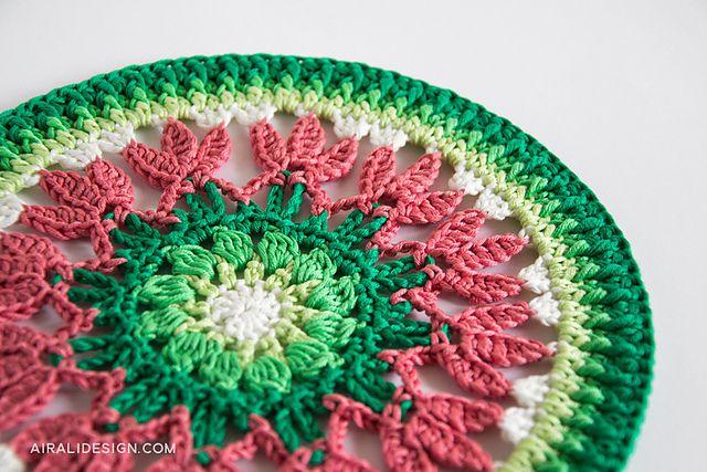 Spring Mandala Crochet Pattern