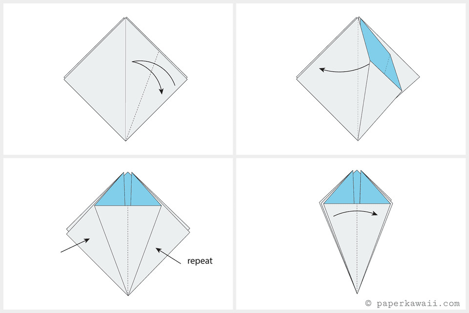 How To Make an Origami Flower Origami Flower Diagram on