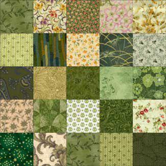 Twenty-Five Patch Quilt Block Pattern