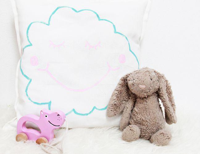 DIY Painted Cloud Pillows