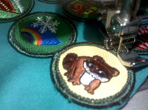 How to Place and Sew Girl Scout Badges