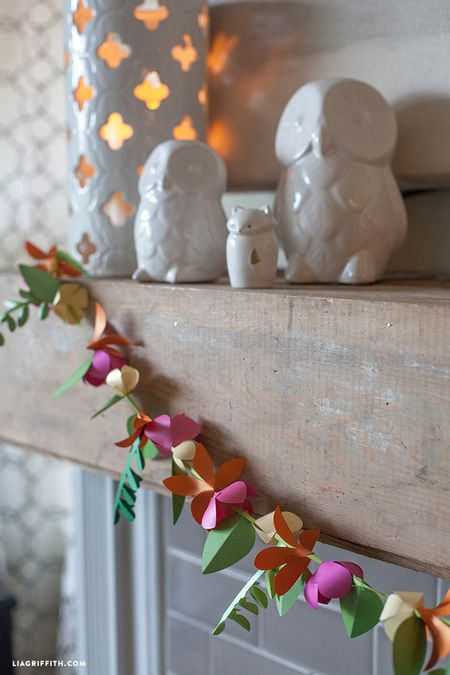 15 fun diy paper garlands you can make spring flower diy paper banner mightylinksfo