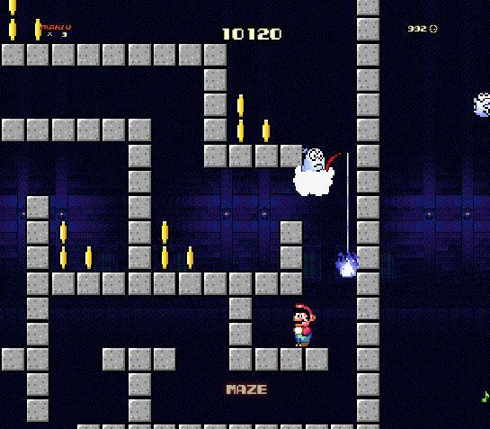 Guiding Mario through a haunted maze
