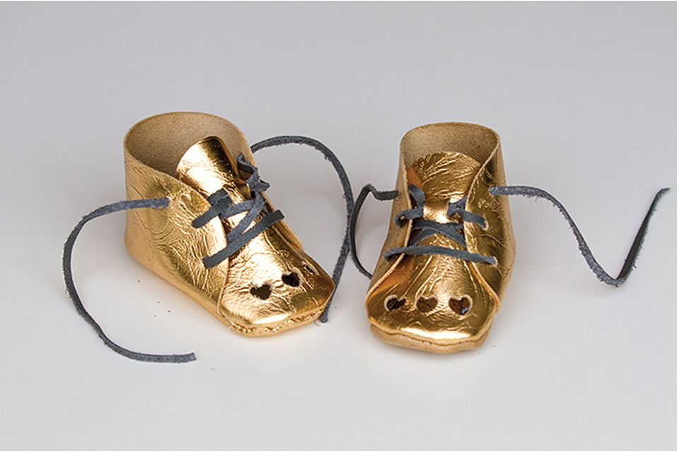 Gold Leather Shoes