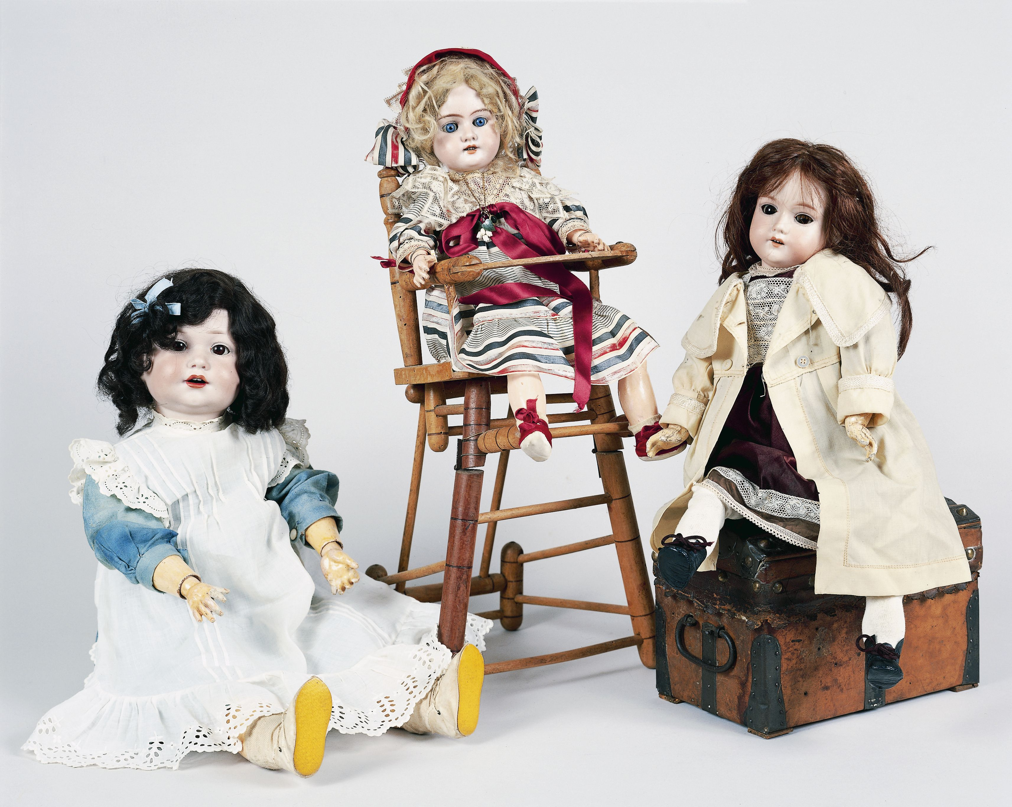 Bisque dolls made by Armand Marseille, ca 1930, Germany, 20th century