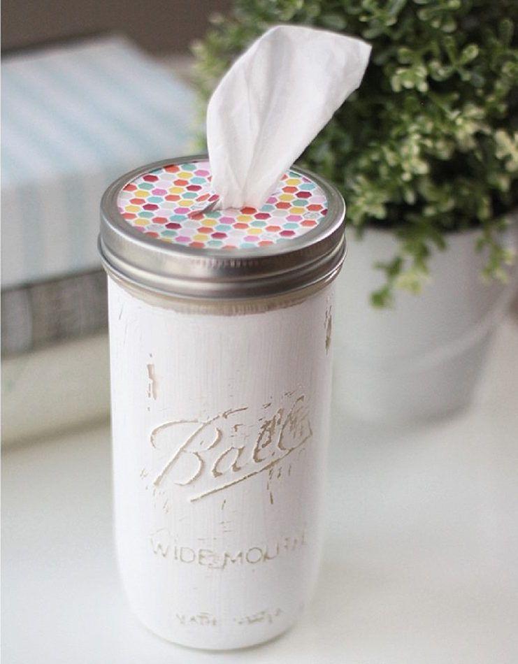 mason jar tissue holders