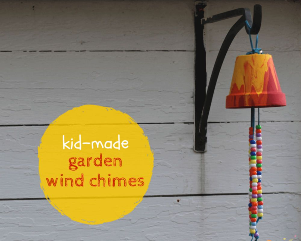 Wind chime hanging from wall