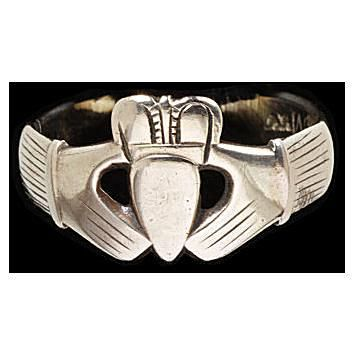 Engraved Gold Claddagh Ring from Irelend