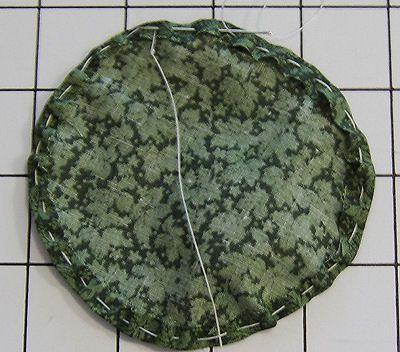 Sew the fabric circle