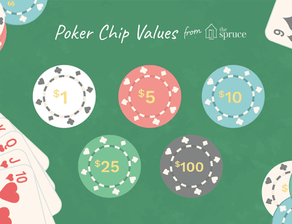 illustration of poker chip values