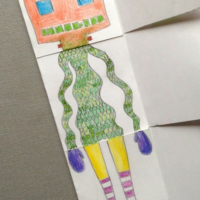Exquisite corpse drawing idea