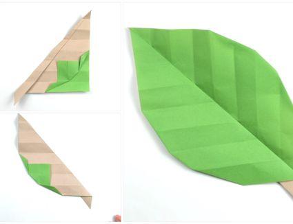 Origami Leaf Tutorial 0
