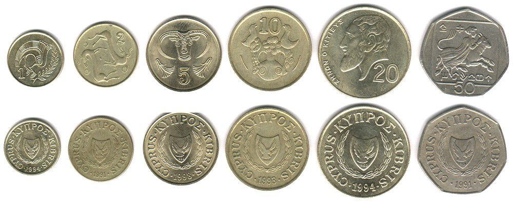 These coins are currently circulating in Cyprus as money.